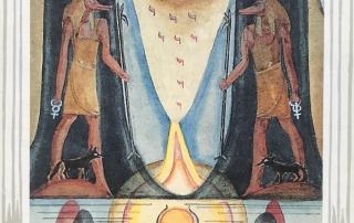 XVIII Trumps Thoth Tarot the Moon
